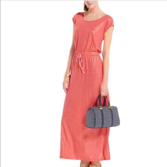 36480045982a Tommy Hilfiger Shimmer-Knit Drawstring Maxi Dress.  M_5c8b03461b3294534bc00b3b